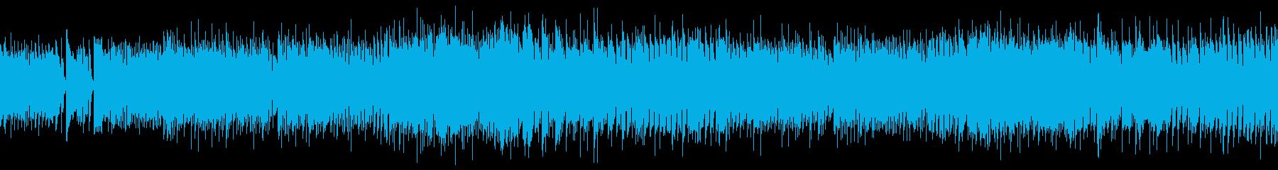 ロックバンド系バトルBGMの再生済みの波形