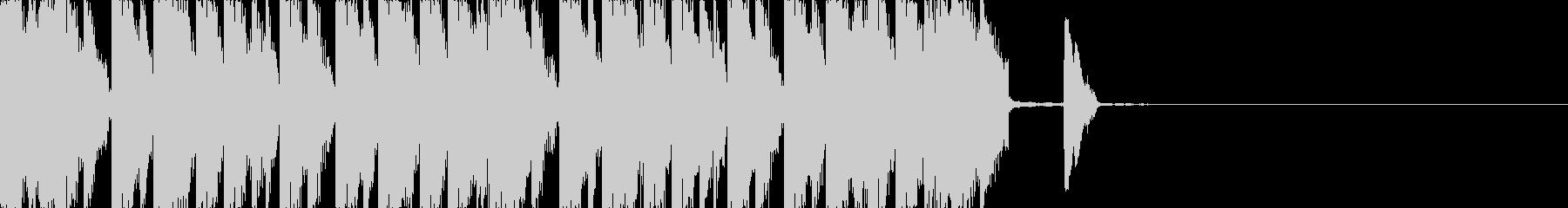 ユニークで面白いコミカルなジングルBGMの未再生の波形