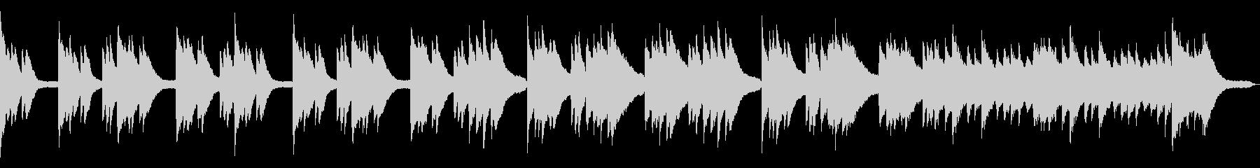 爽やかで使いやすいピアノソロループの未再生の波形