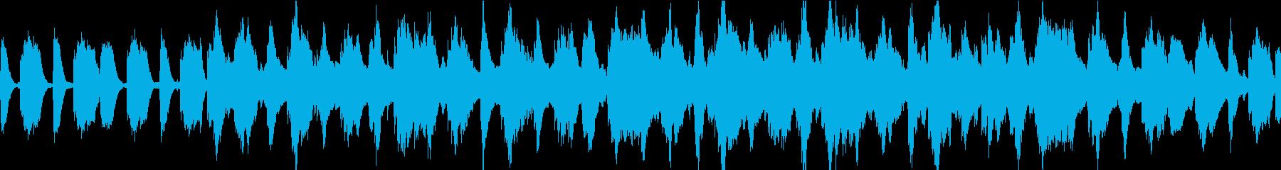 ふわふわシンセのOP、チュートリアル曲の再生済みの波形