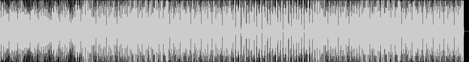 無機質でクール、メタリックなテクノの未再生の波形