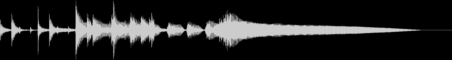 ウクレレやアコースティック楽器が演...の未再生の波形