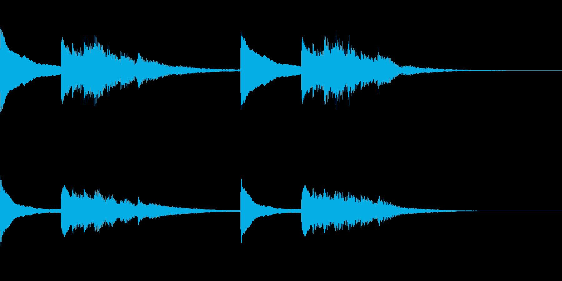 正月!琴!一番有名な曲のジングル版2の再生済みの波形