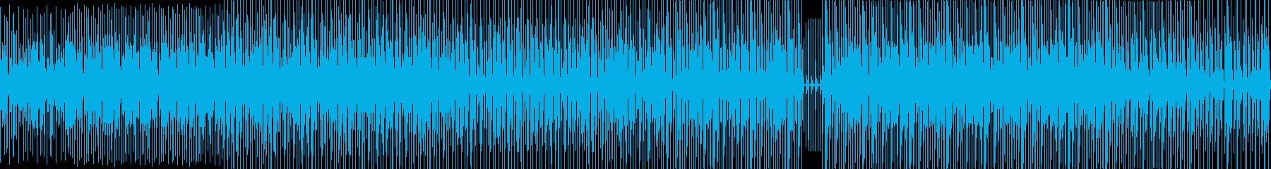 【ループ対応】ビートのみのアップテンポ曲の再生済みの波形