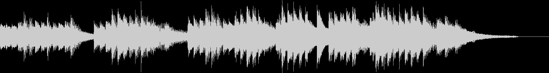 豊かな和音のうららかな秋のピアノジングルの未再生の波形