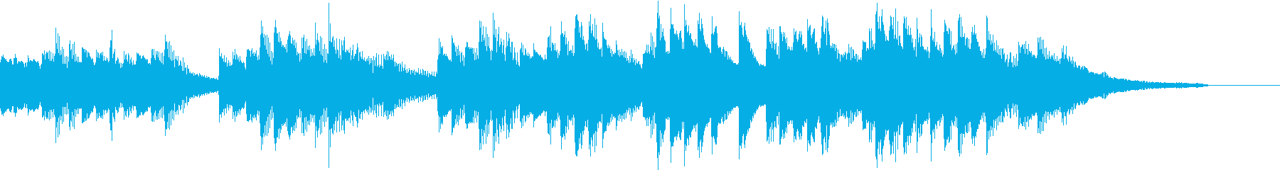豊かな和音のうららかな秋のピアノジングルの再生済みの波形
