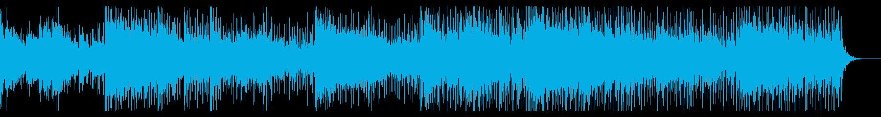 不気味なホラーテクスチャの再生済みの波形