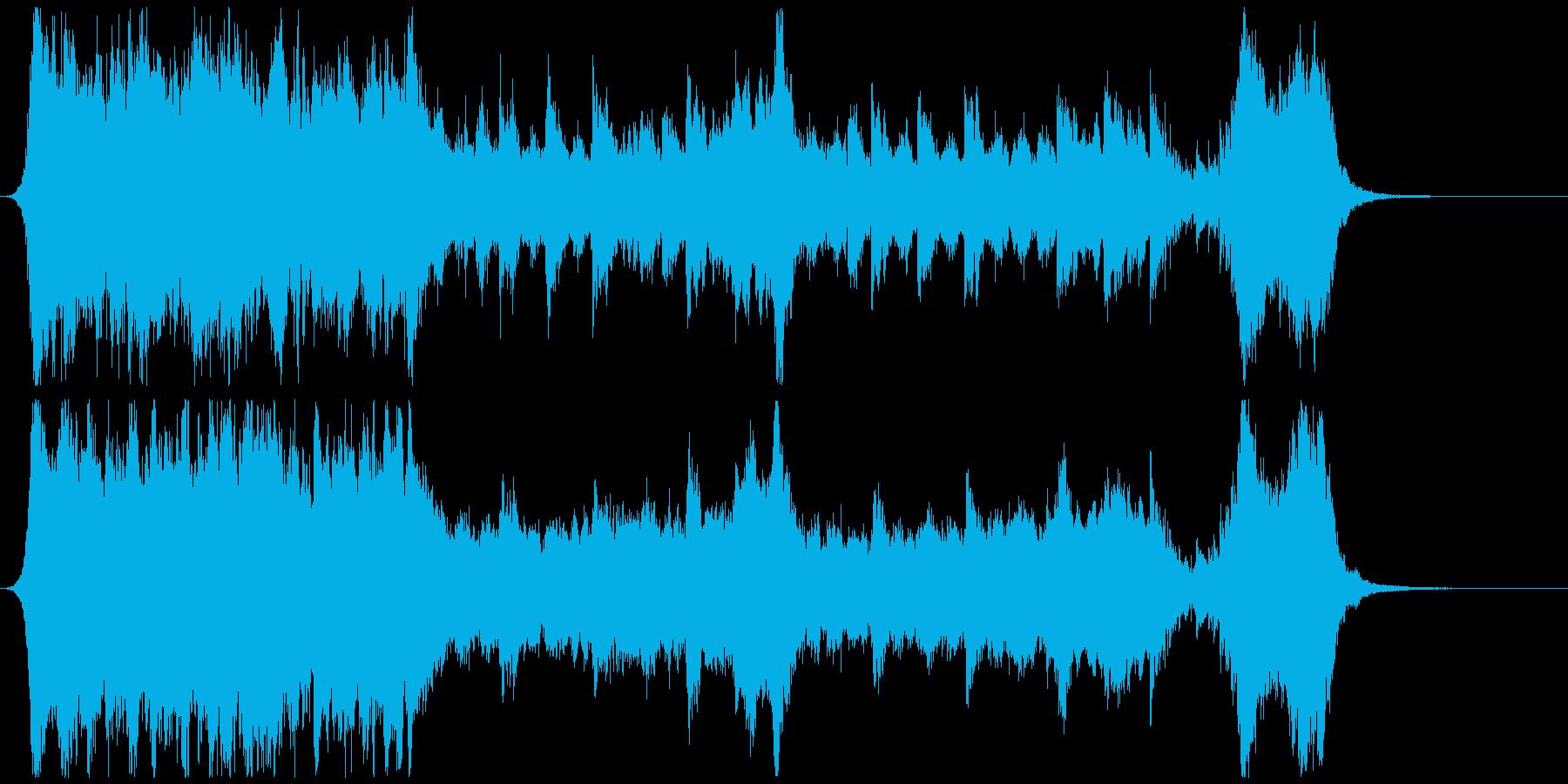 ハリウッド映画風の壮大なオーケストラ2Dの再生済みの波形