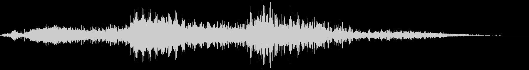 ヒュンヒュンヒュン、ポーン、ポーンの未再生の波形