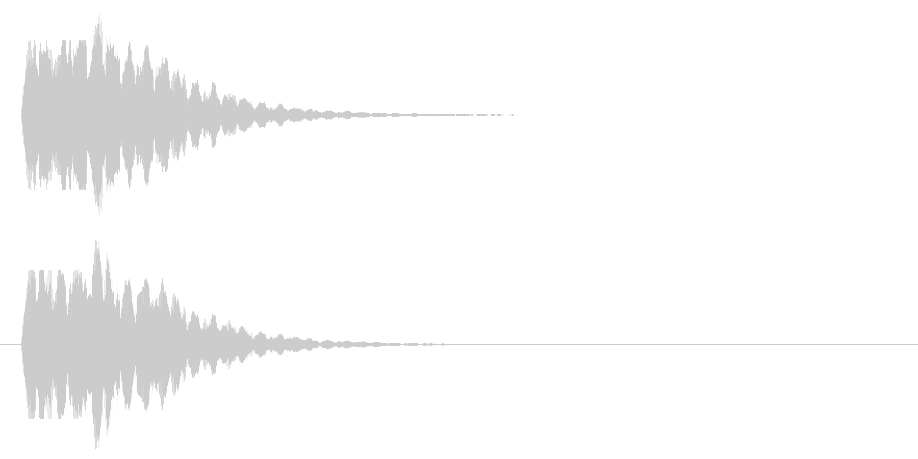 キラキラお知らせベルの未再生の波形