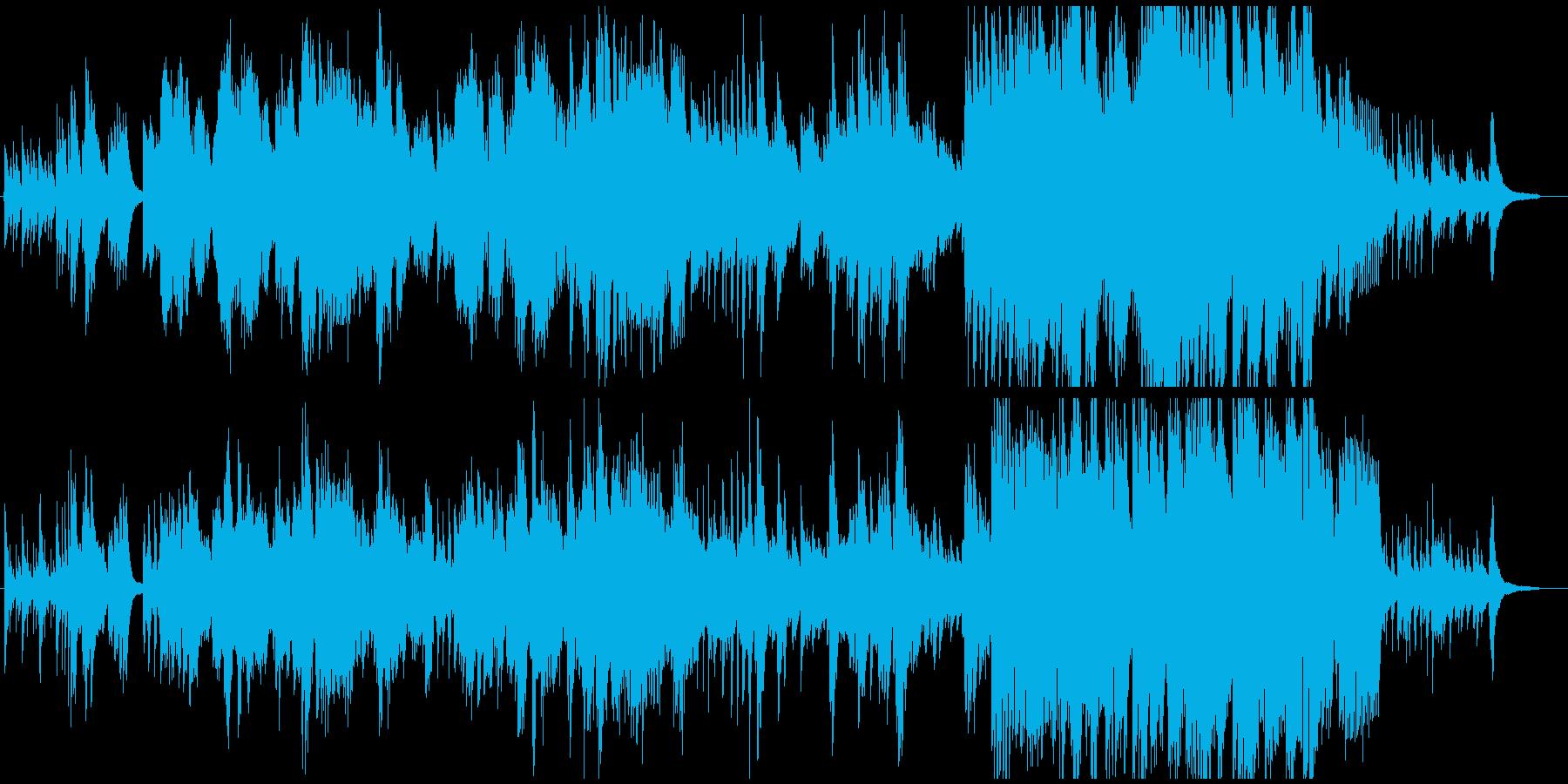 ふるさと(故郷)ピアノとメロディの再生済みの波形