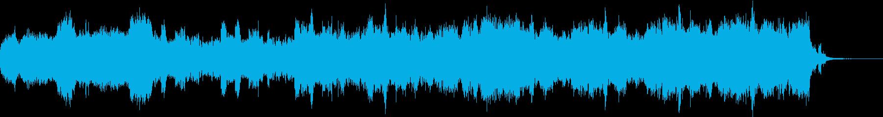 ダークな雰囲気の弦アンサンブル+コーラスの再生済みの波形