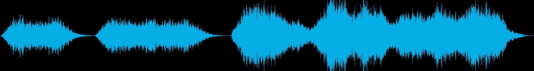 神聖な雰囲気のコーラス(聖歌隊)の再生済みの波形