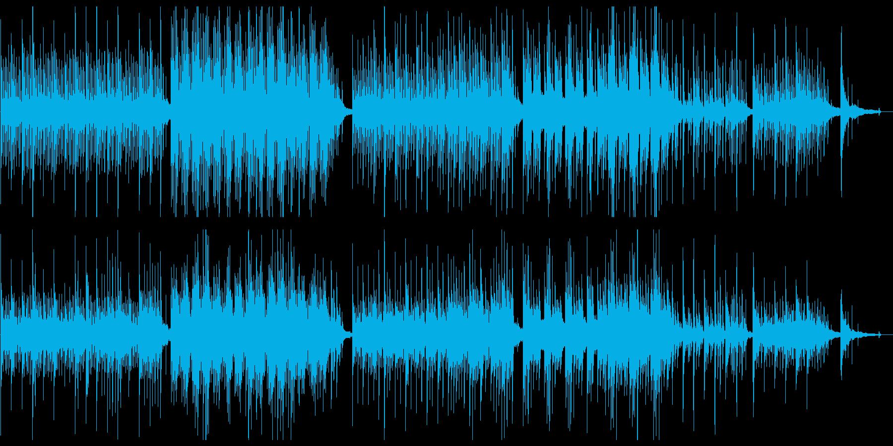 優しく静かなピアノバラードの再生済みの波形