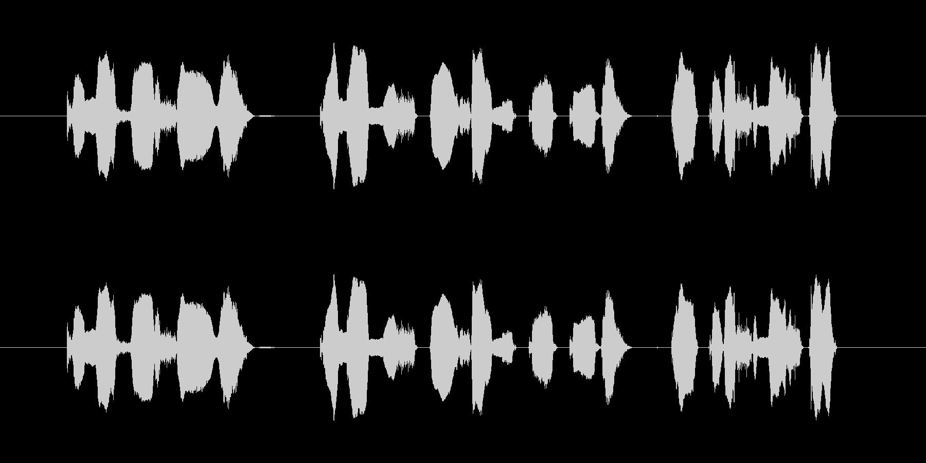 「この放送は…」の未再生の波形