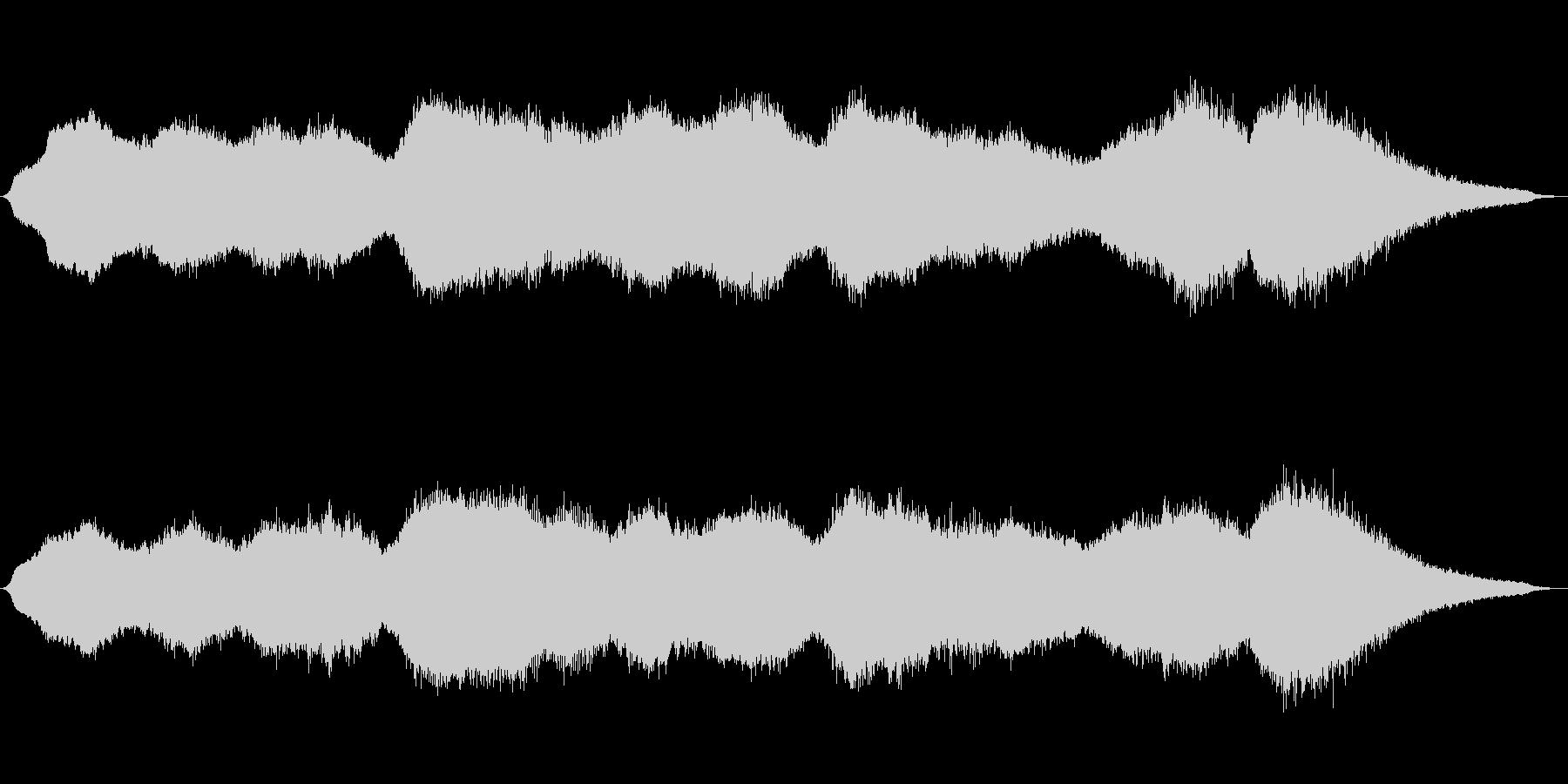 重厚かつ力強い音色の神秘的電子音楽の未再生の波形