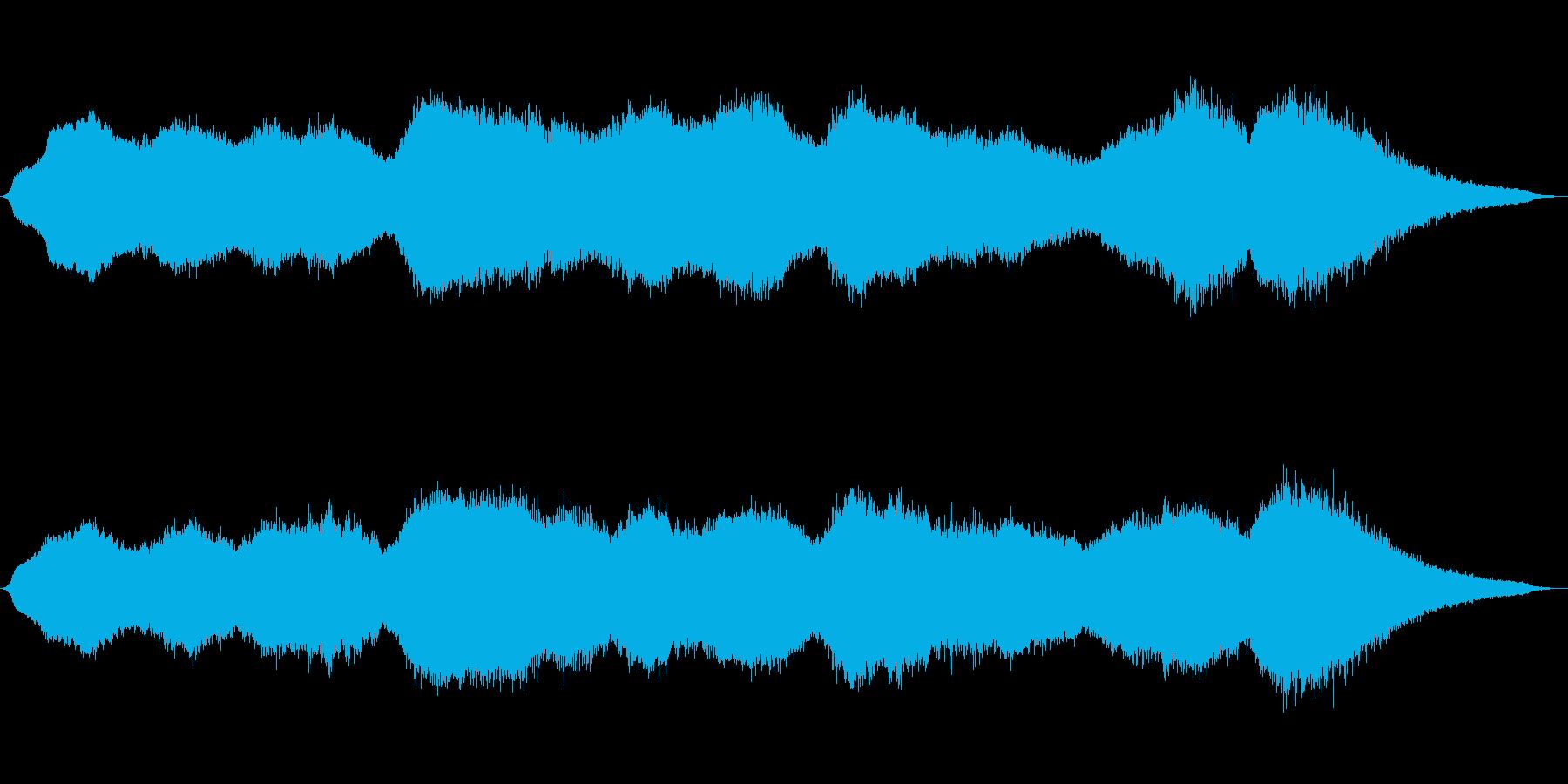 重厚かつ力強い音色の神秘的電子音楽の再生済みの波形