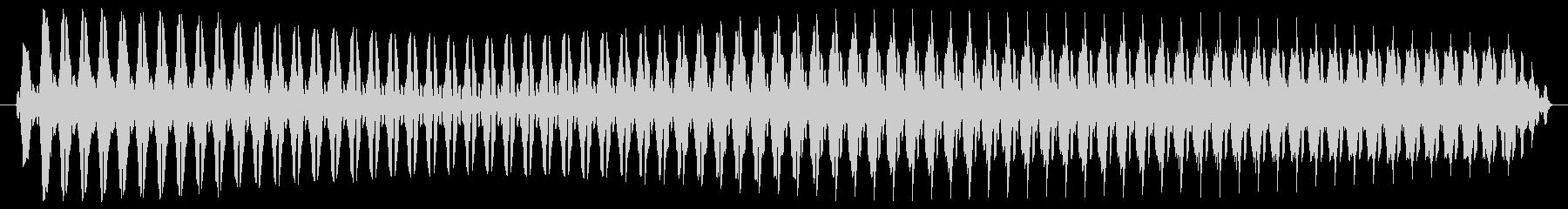ヴュゥー。クイズ不正解・ブザー音の未再生の波形