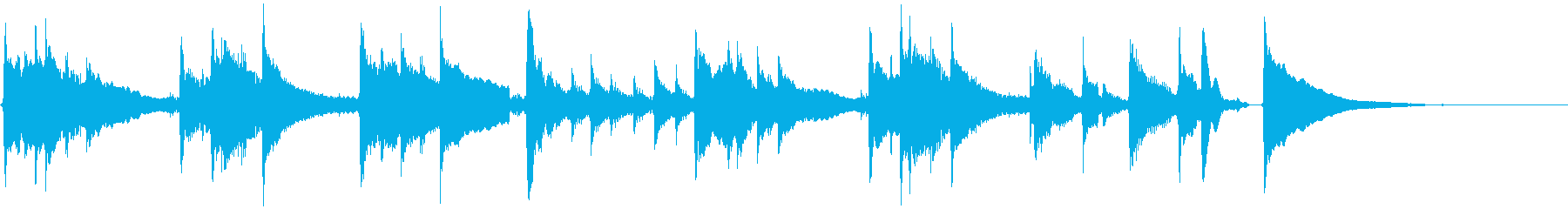 ★軽快で爽やか15秒ジングル/アコギ加工の再生済みの波形