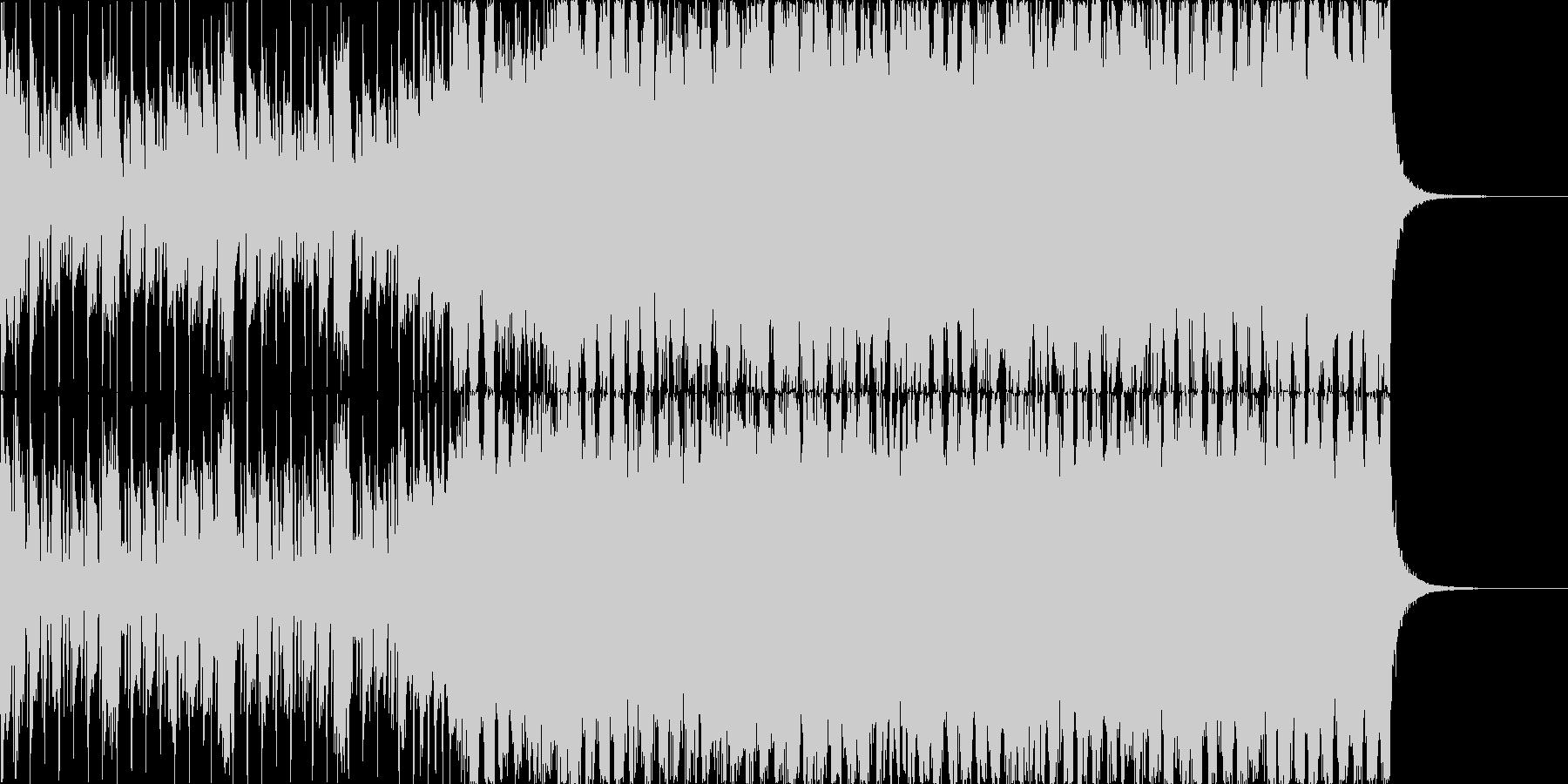 爽やかなシンセロックの未再生の波形
