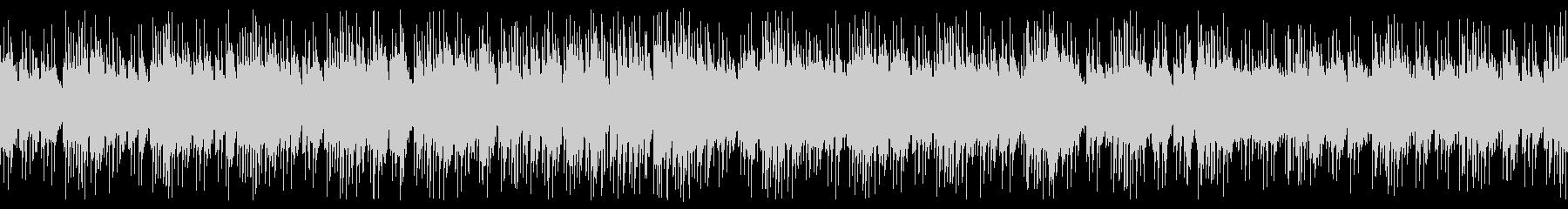 宇宙空間・波のようなピアノ曲 ループの未再生の波形