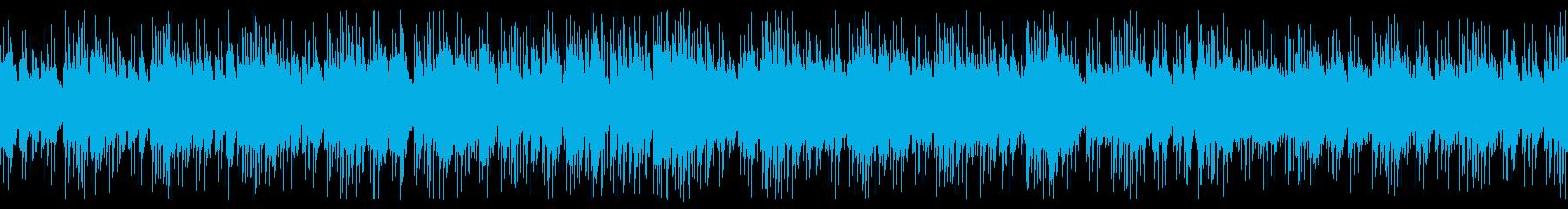 宇宙空間・波のようなピアノ曲 ループの再生済みの波形
