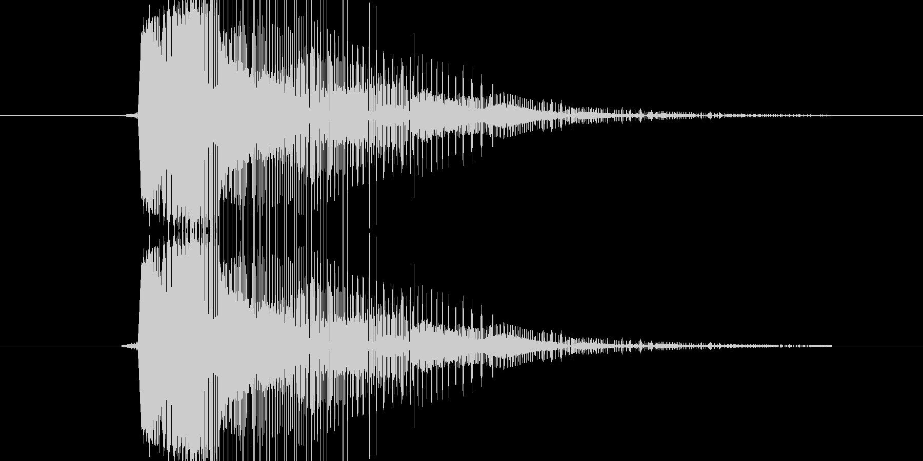 レーザー銃などによる衝撃音の未再生の波形
