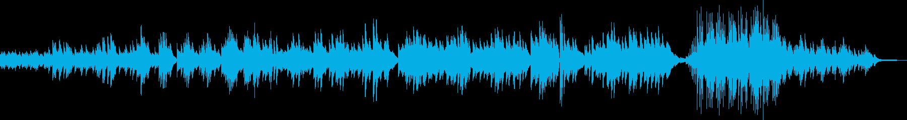 スローで優しい美しい暖かいピアノの曲の再生済みの波形