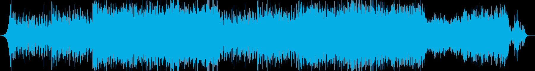 ドラマチックな展開のエレクトロニカBGMの再生済みの波形