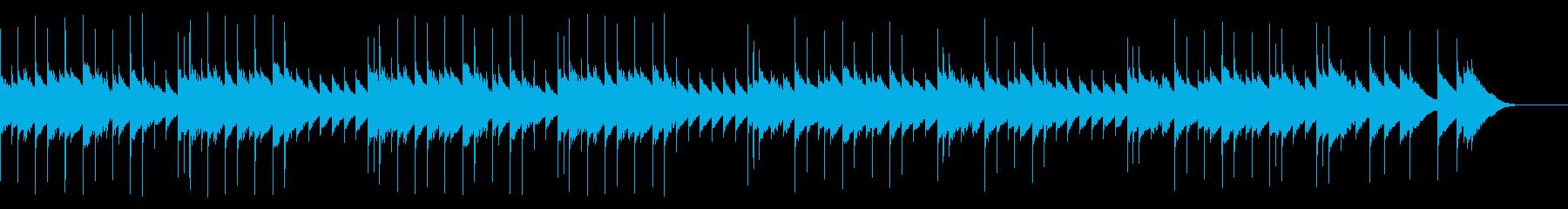 聴くとすやすや眠れそうなオルゴール曲の再生済みの波形