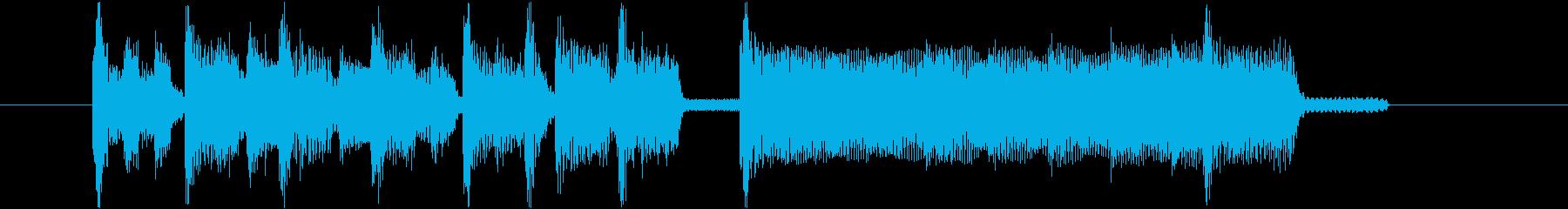 レトロゲーム風のゴキゲンなジングル!の再生済みの波形