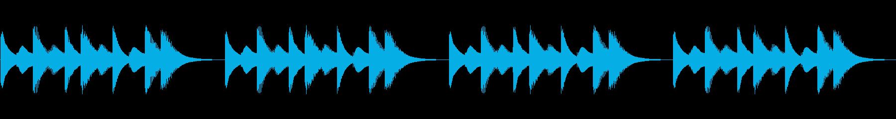 スマホ風着信音その1の再生済みの波形