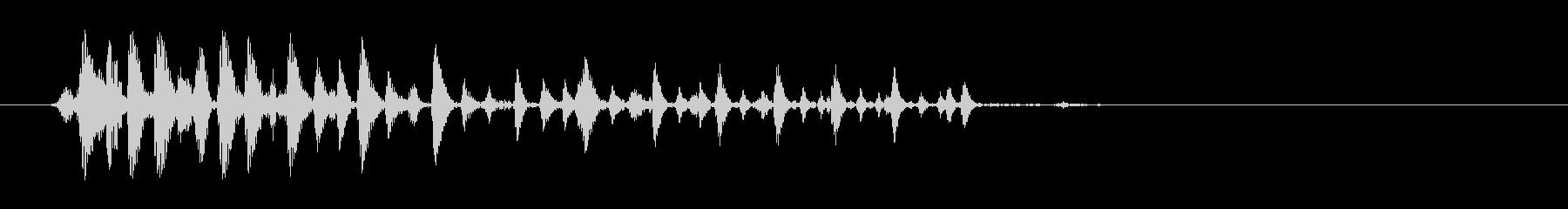 唐突なアヒルの鳴き声の未再生の波形