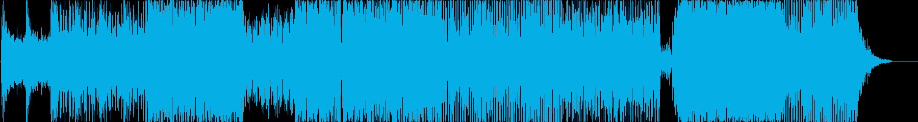 ヒーロー登場のかっこいいサウンドの再生済みの波形