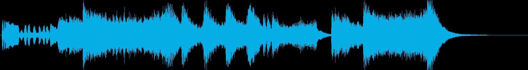 オーケストラによるファンファーレ01の再生済みの波形