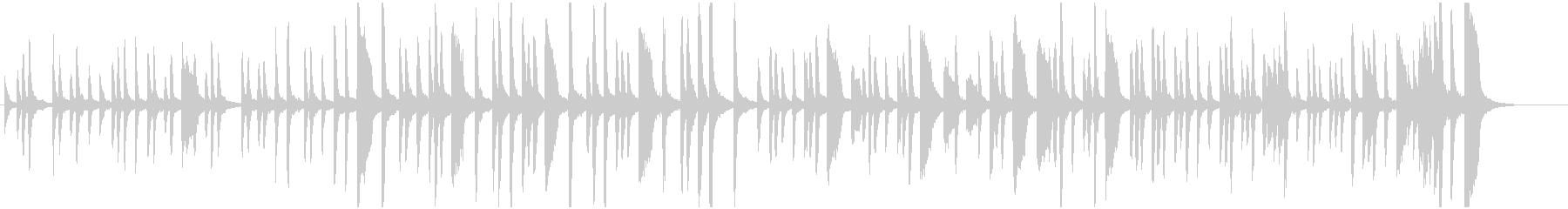 リズミカルでポップなピアノBGMの未再生の波形