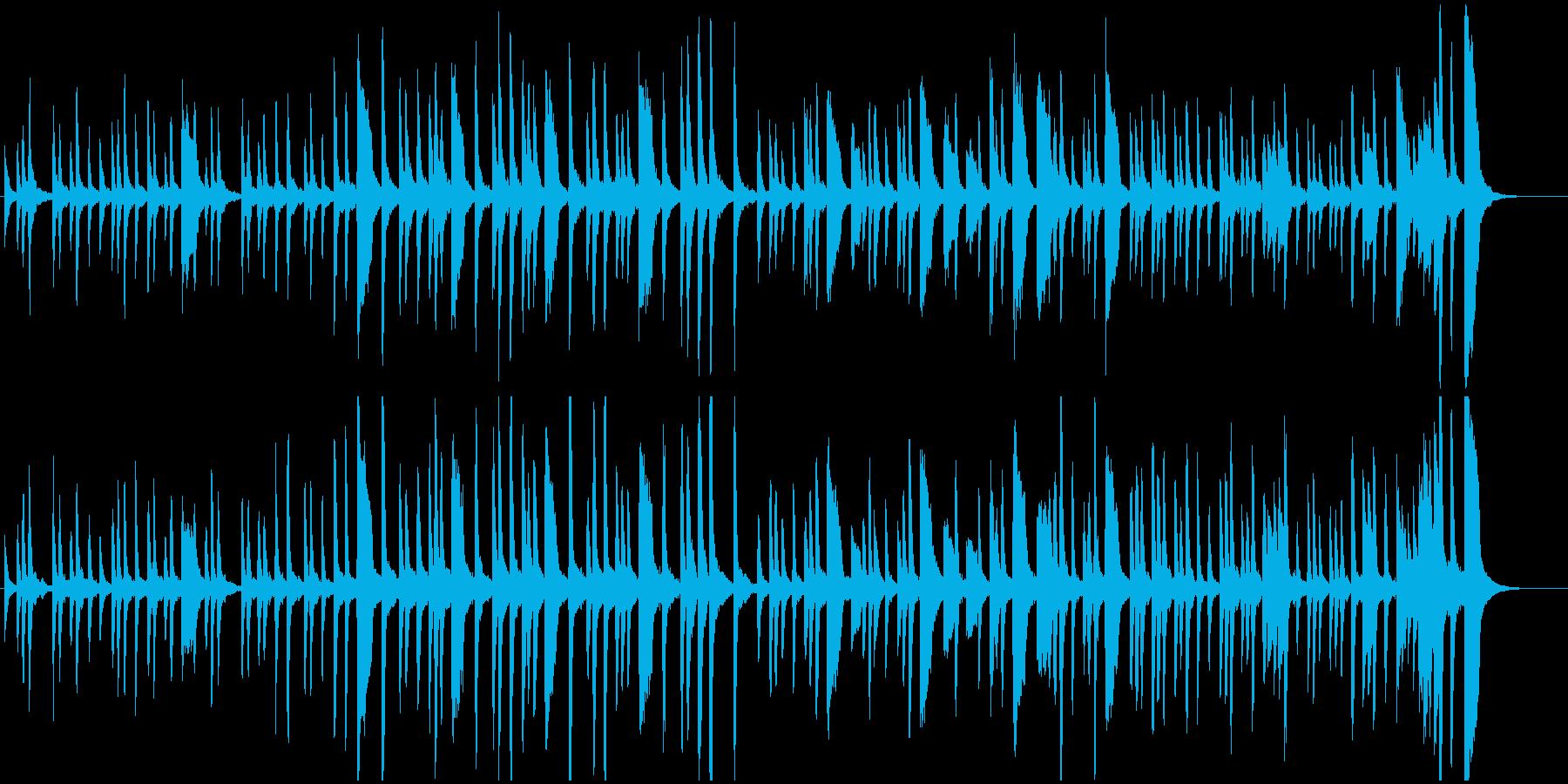 リズミカルでポップなピアノBGMの再生済みの波形