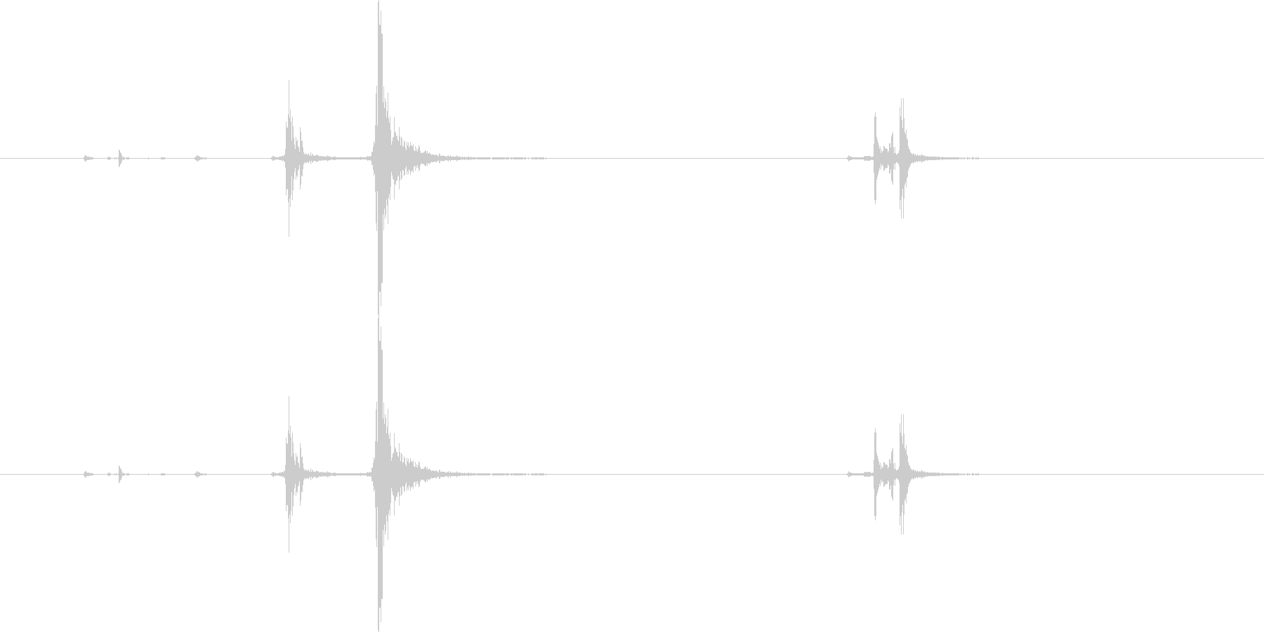 パッチン(ステープラー、ホッチキス音)Cの未再生の波形