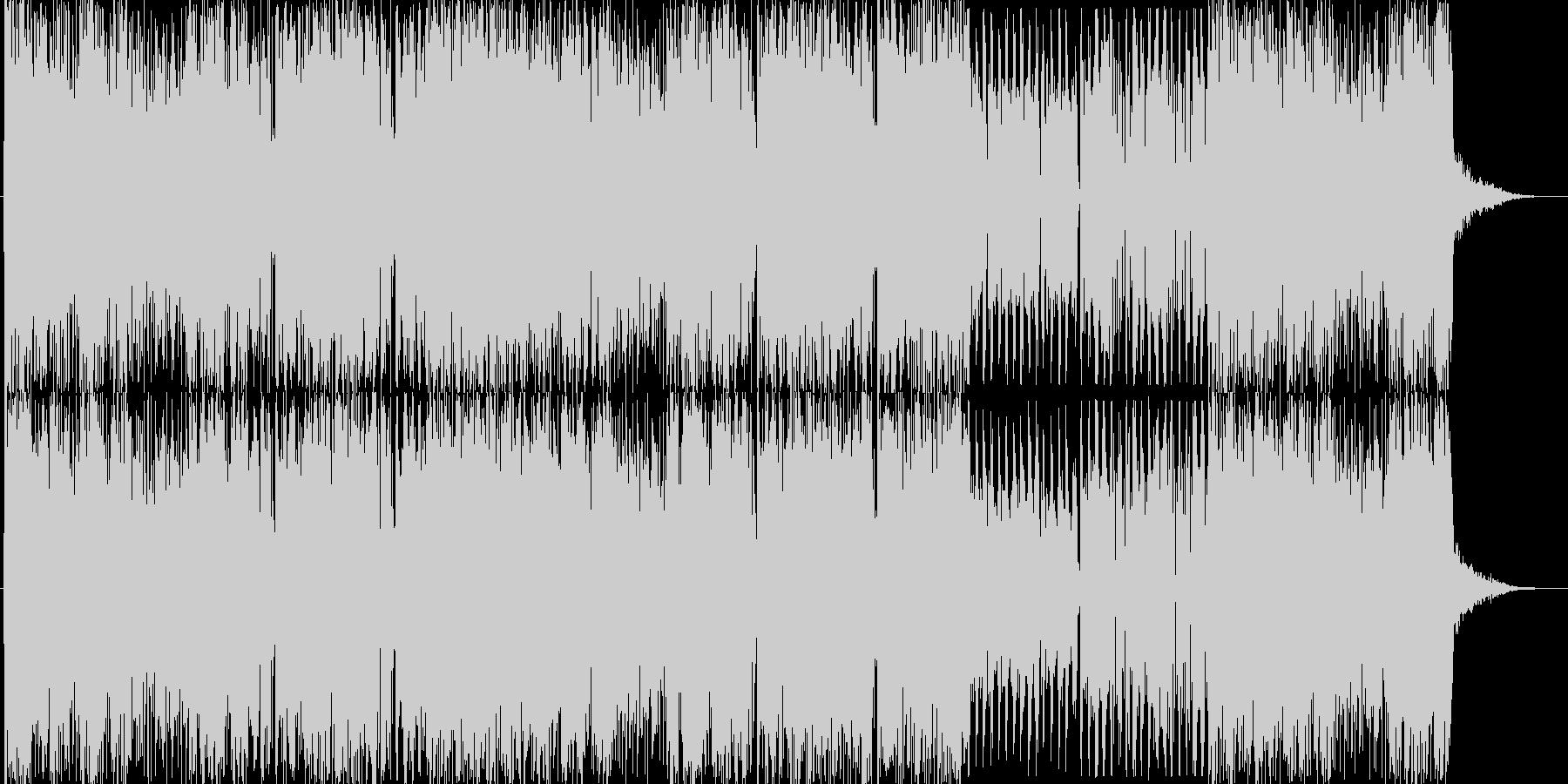 とにかく激しいエレクトロな曲ハーフverの未再生の波形