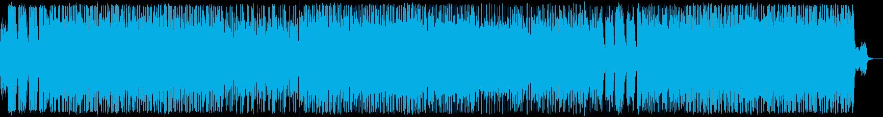 鈍重、激しい、悪そうなゴリゴリロックの再生済みの波形