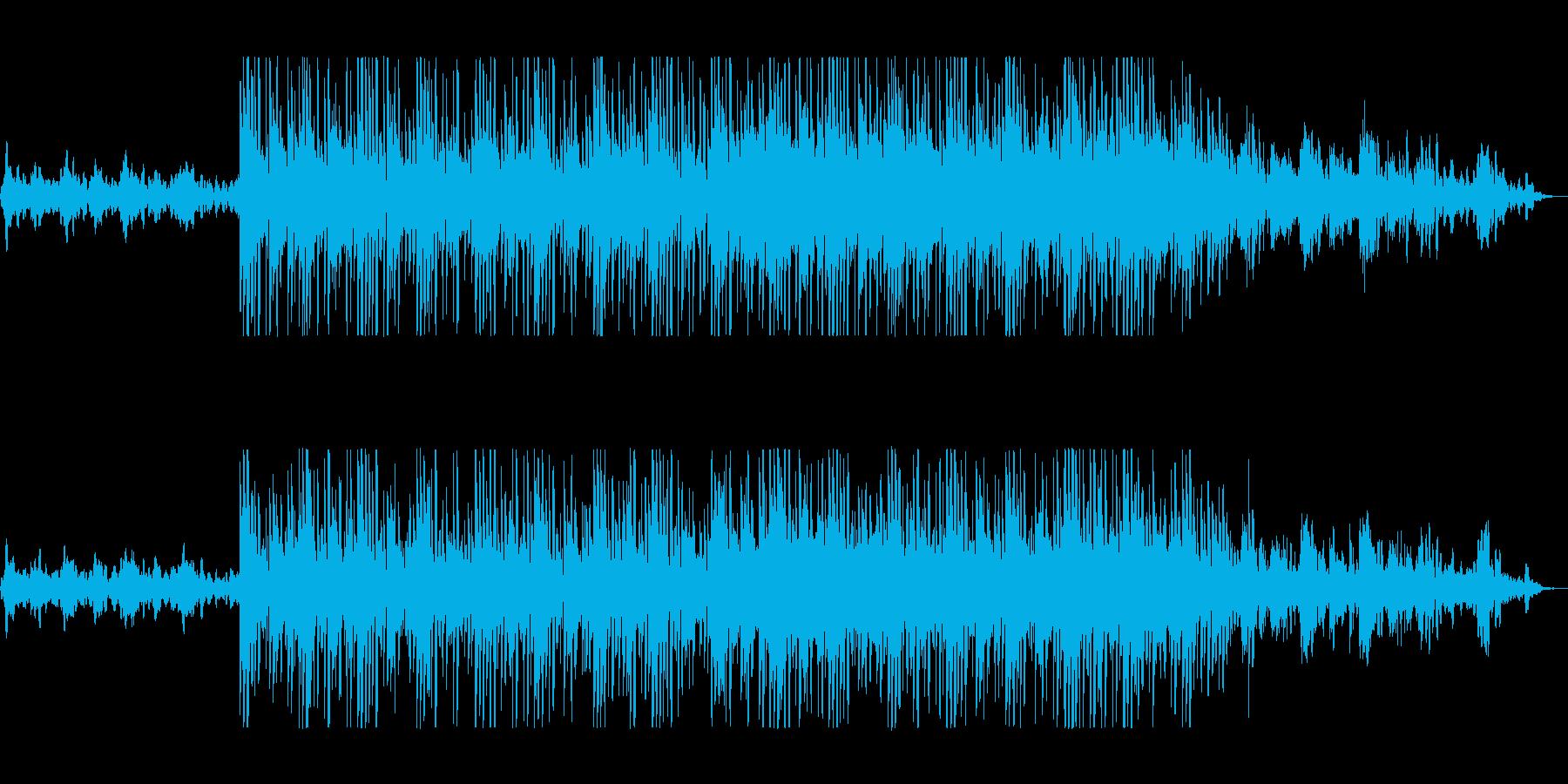 涼しげで神秘的なシンセサイザーサウンドの再生済みの波形