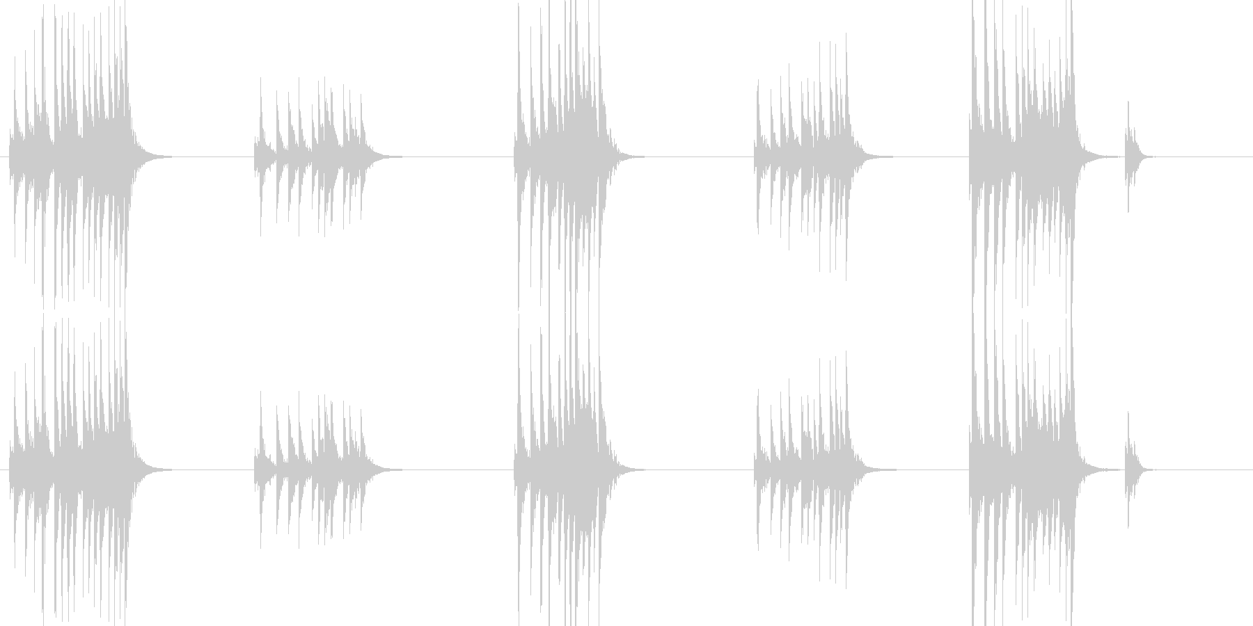 大太鼓7風音歌舞伎情景描写和風和太鼓ホラの未再生の波形