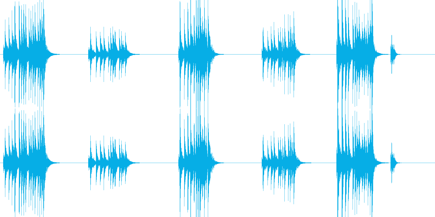 大太鼓7風音歌舞伎情景描写和風和太鼓ホラの再生済みの波形