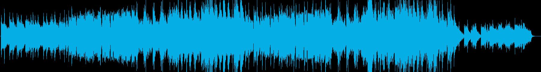 優しく壮大なシンセサイザーサウンドの再生済みの波形