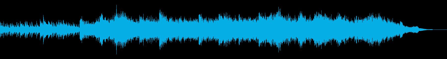 ハロウィンの不吉な予感のするBGMの再生済みの波形