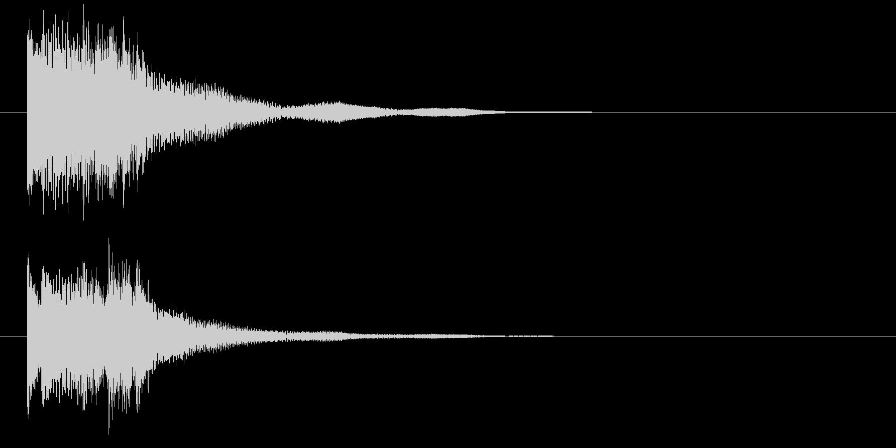 琴による和風ジングル・上行の未再生の波形