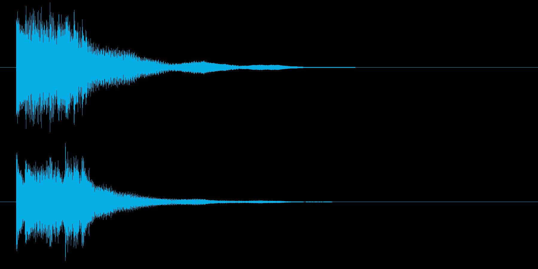 琴による和風ジングル・上行の再生済みの波形