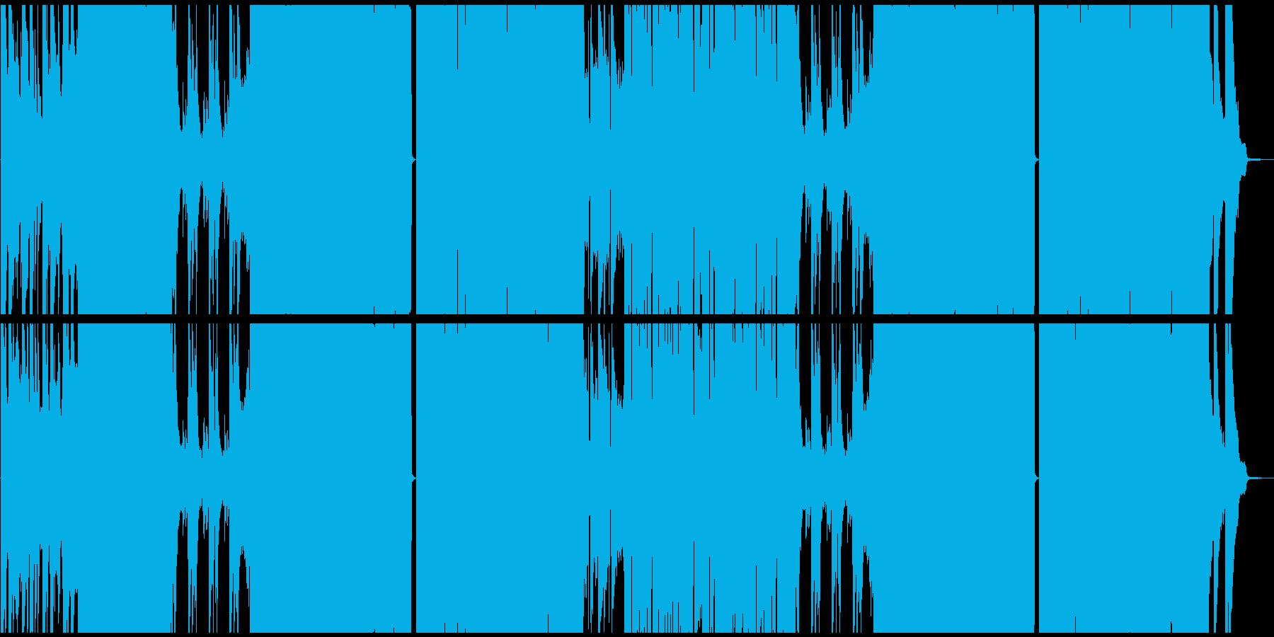 静と動が交差するEDM風爽快ロックの再生済みの波形