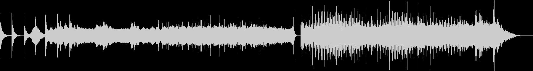 ディジュリドゥと拍子木の力強いBGMの未再生の波形
