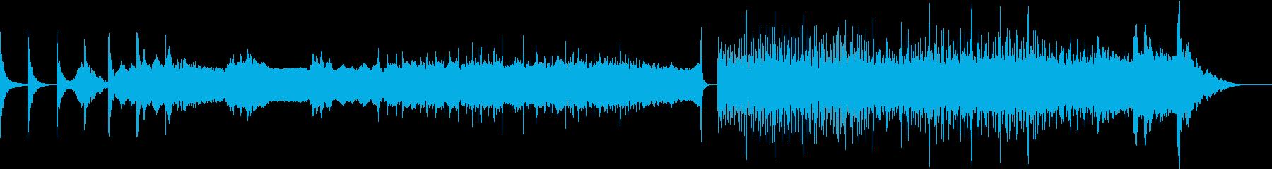 ディジュリドゥと拍子木の力強いBGMの再生済みの波形